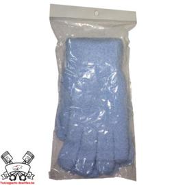 Carpro - blauwe microvezel werkhandschoenen