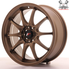 JR-Wheels JR5 Dark Anodize Bronze 17 Inch 7.5J ET35 5x100/114.3