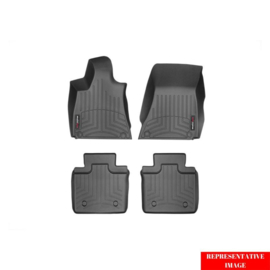 Floorliner 1e/2e zitrij passend voor Volkswagen Touareg 2018- & Porsche Cayenne 2017- Zwart