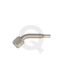 Krimp slang adapter female concave 45° D03