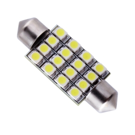 16 Led C5W Wit 42mm