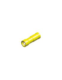 Half-geïsoleerde kabelschoen female 5 mm geel