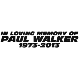 In Loving Memory Of Paul Walker 1973-2013