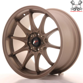 JR-Wheels JR5 Dark Anodize Bronze 17 Inch 9.5J ET25 4x100/114.3