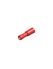 Half-geïsoleerde kabelschoen female 4 mm rood