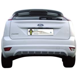 Achterbumperskirt (Diffuser) passend voor Ford Focus II 3/5-deurs 2008-2011 (ABS)