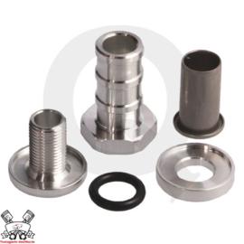 Zelf afsluitbare fitting - 13mm aluminium