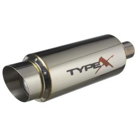 Sportuitlaat Universeel Type X Racing - Ø150mm - Angle Tip