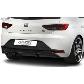 Achterskirt 'Diffusor' passend voor Seat Leon 5F FR SC/5-deurs 2013-2017 excl. ST/Cupra (ABS zwart glanzend)