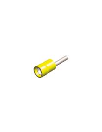 Half-geïsoleerde kabelschoen pin 1,9 mm geel