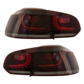 Set R-Look LED Achterlichten passend voor Volkswagen Golf VI 2008-2012 excl. Variant - Rood/Helder/Smoke - incl. Dynamic Running Light