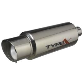 Sportuitlaat Universeel Type X Racing 'DualSound' - Ø150mm - Angle Tip