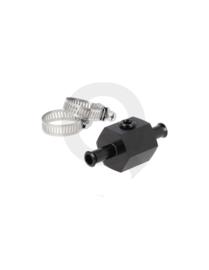 Brandstof druk aansluiting 10 mm zwart