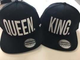 King. & Queen. Cap Zwart