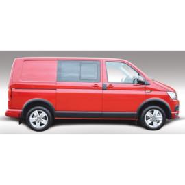 RGM Set Zijpanelen passend voor Volkswagen Transporter T5 2003-2015 & T6 2015- Lange wielbasis & Dubbele schuifdeur - Zwart