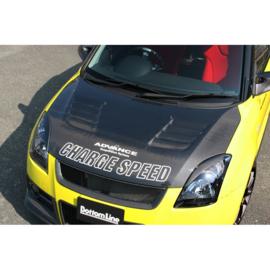 Chargespeed Motorkap passend voor Suzuki Swift II 2005- + Luchtinlaten (FRP)