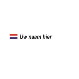 Nederlandse Vlag + Naam