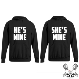Hoodie He's Mine & She's mine