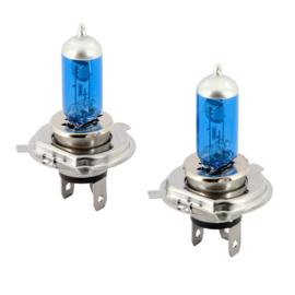 SuperWhite Blauw H4 60-55W/12V/4800K Halogeen Lampen, set à 2 stuks (E13)