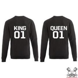Sweater King & Queen + rugnummer