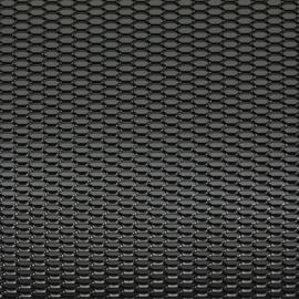 Racegaas aluminium zwart - honingraat 12x6mm - 125x25cm