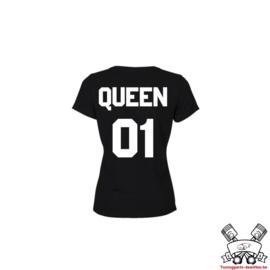 T-shirt Queen + Rugnummer