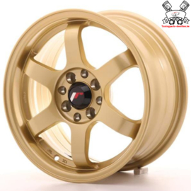 JR-Wheels JR3 Gold 15 Inch 7J ET25 4x100/108