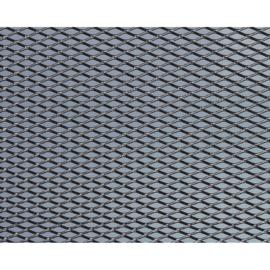 Foliatec Aluminium Race-gaas medium zwart 20x120cm - 1 stuk ruitformaat 13mm x 6mm