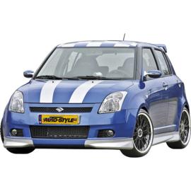 Voorspoiler passend voor Corners Suzuki Swift 2005- excl. Facelift