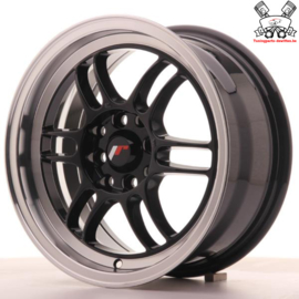JR-Wheels JR7 Black 15 Inch 7J ET38 4x100/114.3