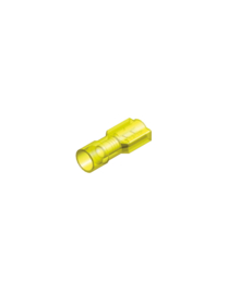 Half-geïsoleerde kabelschoen female 6,3 mm geel
