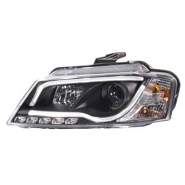 Set Koplampen incl. DRL 'Light-Bar' passend voor Audi A3 2008-2012 - Zwart