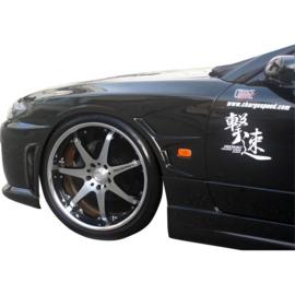 Chargespeed Voorspatborden passend voor Nissan S15 240SX + intake (FRP)