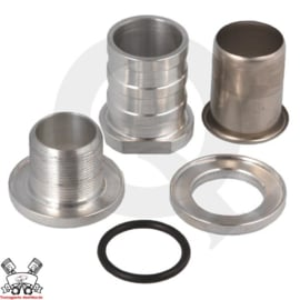 Zelf afsluitbare fitting - 25mm aluminium
