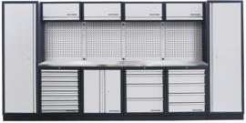 Modulaire meubelwerkplaats 6 elementen (Inox Werkblad)