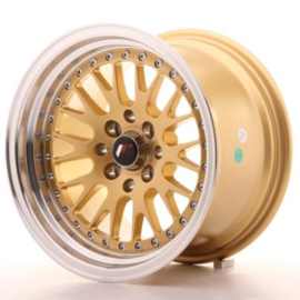 JR-Wheels JR10 Wheels Gold 15 Inch 9J ET10 4x100/114.3