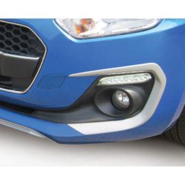 RGM Set mistlamp omrandingen passend voor Suzuki Swift IV 5-deurs excl. Sport 5/2017- Zilver