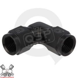 Adapter 90° female / female draaibaar D03 - Zwart