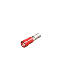 Half-geïsoleerde kabelschoen male 4 mm rood