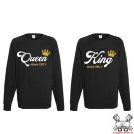 Sweater King & Queen since + Kroon