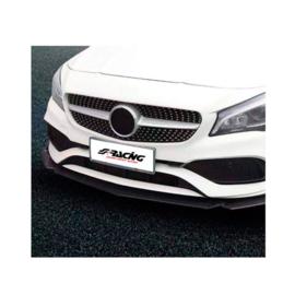 Simoni Racing Universele voorspoiler 'Lip Splitter' - 3-delig - ABS Zwart + Carbon-look 'Wings'