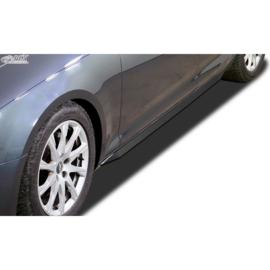 Sideskirts 'Slim' passend voor Audi A4 B9 Sedan/Avant 2015-2019 & FL 2019- (ABS zwart glanzend)