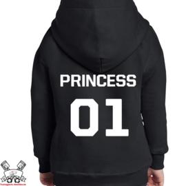 Hoodie Princess + rugnummer
