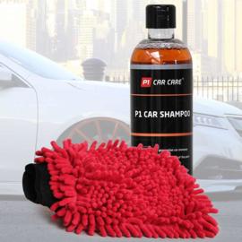 P1 Car Shampoo + Rasta Washandschoen kit