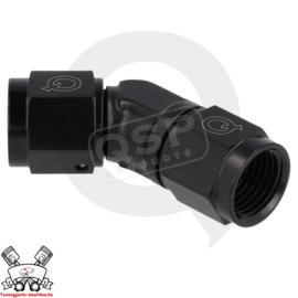 Adapter 45° female / female draaibaar D03 - Zwart