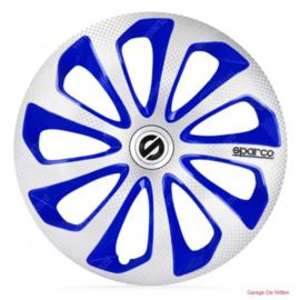 Sparco Sicilia Wieldoppen Zilver/Blauw/Carbon
