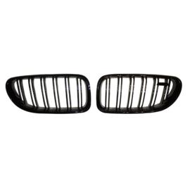 Glanzend zwarte Grills passend voor BMW 6-Serie F12/F13 2011-2016 'M-Style'