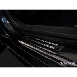 3D Zwart Carbon Instaplijsten passend voor Volkswagen Tiguan II 2016-/Arteon 2017-/Passat Sedan&Variant 2014-/Golf Sportsvan 2014- incl. Facelifts - 2-Delig - (achterdeuren)