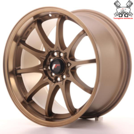 JR-Wheels JR5 Dark Anodize Bronze 18 Inch 9.5J ET22 5x100/114.3