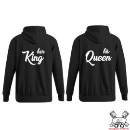 Hoodie Her King & His Queen